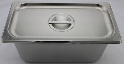 Stainless Steel Bain Marie Tray & Lid, 1/3 Size 150mm