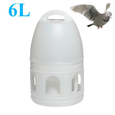 US 6L 6000ML White Plastic Removeble Drinker + Handle For Pigeons Birds Supplies