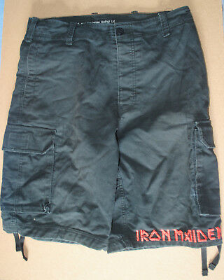 Iron Maiden Shorts Music Merchandise Collectable Used Heavy Metal Cargo Shorts
