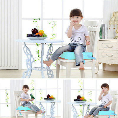 Chrilren Kids Soft Chair Seat Highchair Mat Baby Dining Booster Cushion Pad Blue