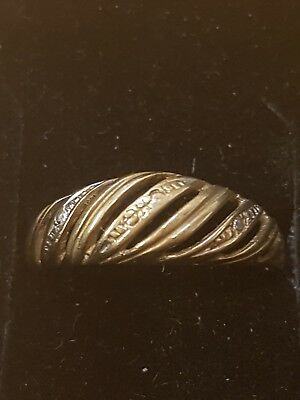 9ct Gold Ring with Diamond Accents