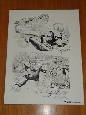 2000Ad Judge Anderson Psi Division Carl Critchlow Signed Original Comic Art