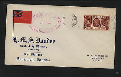 Great  Britain   #228  ship  Dundee cover  1936             KL1119