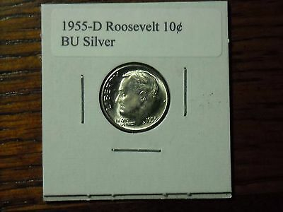 1955-D BU Roosevelt Dime Real beauty