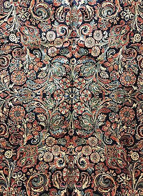 Sensational Sarouk - 1930s Antique Persian Rug - Floral Carpet - 10 x 11.10 ft.