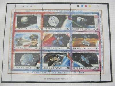 ( A ) 8 Pages Space Etc Unmounted Mint In Hawid Strips High Cat  Free Uk Postage