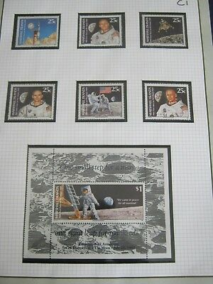 (  C) 6 Pages Space Etc Unmounted Mint In Hawid Strips High Cat  Free Uk Postage
