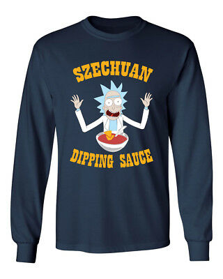 Ricky & Morty Szechuan Dipping Sauce McDonalds Funny Mens & Youth Long T-Shirt