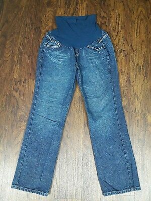 Motherhood Maternity Jeans Size L Large Pants Overbelly Full Coverage Dark Wash
