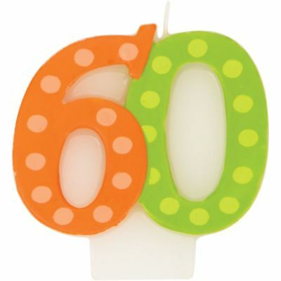 Bright & Bold 60th Birthday Candle Party Decoration