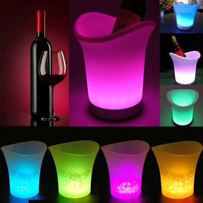 LED Colour Changing Ice Bucket Champagne Wine Drinks Cooler Bar Party Christmas