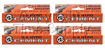 4 Pc Gs Hypo Cement Glue Hobby, Craft And Watch Crystal Glue **usa**