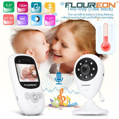 LCD Wireless Babyfone Babyphone Baby Monitor Babyviewer mit Nachtlicht HD Kamera