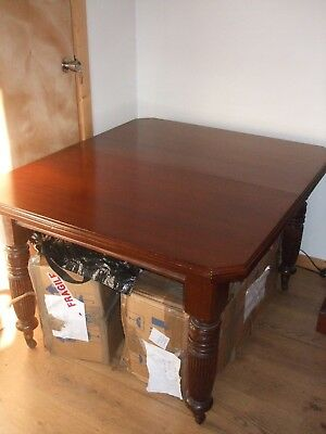 Antique Mahogony Victorian Extending Dining Table And Cover