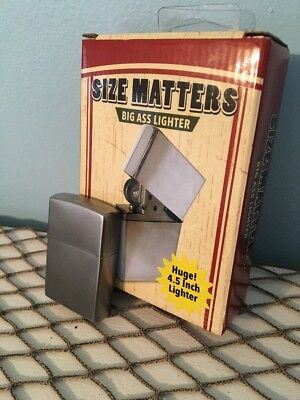 Zippo Lighter And Big Ass Lighter Huge 4.5""