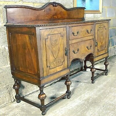 Antique Victorian Sideboard Buffet Serving Table