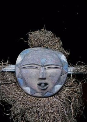 Outstanding  Tribal Kwele Fetish  Mask          ---  Gabon