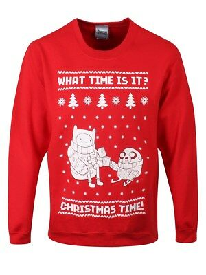 Adventure Time Christmas Time! Christmas Sweatshirt Men's Red AT Sweater