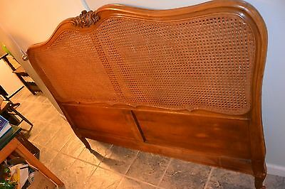 Antique Wood French Provincial style hand-caned headboard - PRICE REDUCED AGAIN!