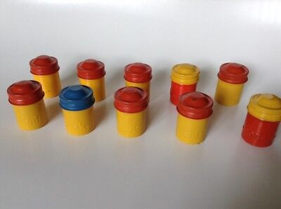 Vintage Kodak Metal Film Canisters Set Of 10