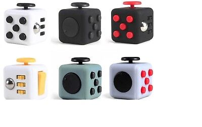 NEW Fidget Cube Spinner Toy Children Desk Adults Stress Relief Cubes XMAS GIFT