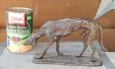 Hand Made Metal Hunting Tracking Coon BloodHound Dog