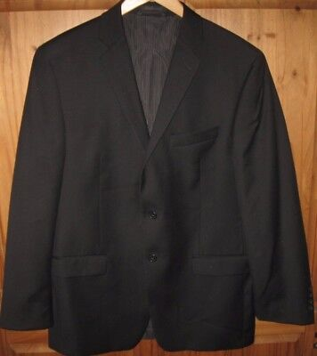 Calvin Klein Men's Sport Coat Blazer Jacket 2 Button Wool Black 42 R Excellent