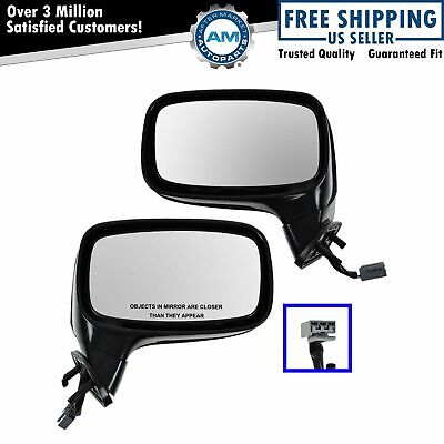 Power Side View Mirror LH & RH Pair Set of 2 for 87-93 Ford Mustang Convertible