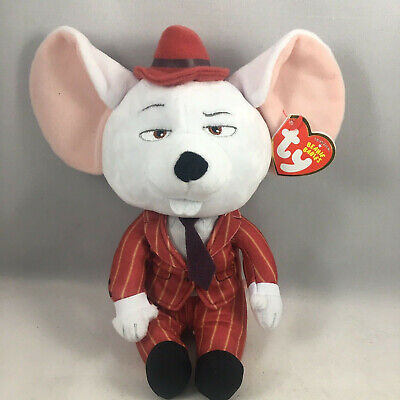 "TY Beanie Baby 6"" MIKE the Mouse (Sing) Plush Stuffed Animal MWMT's Heart Tags"