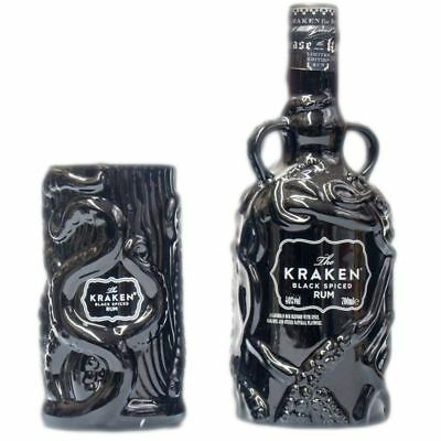 The Kraken Set Black Spiced Limited Edition (Schwarz) + Kelch 700ml 40% Vol.