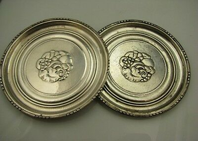 2 1920's Sterling Georg Jensen Coasters Arts & Crafts