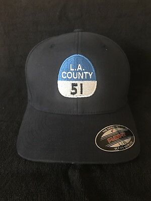 "Hit 1970's TV Show ""Emergency"" 51 Capt Shield  Flex Fit Hat.  L.A. Co. Fire."