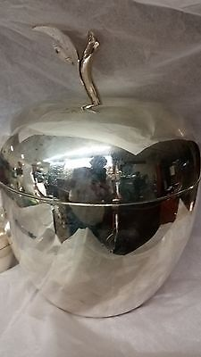 Estate Tiffany & Co. Ice Bucket   Sterling Silver  Large 2 Pc  Apple Great !!!!