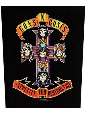 Guns N' Roses Appetite For Destruction Black Back Patch 29 x 36cm
