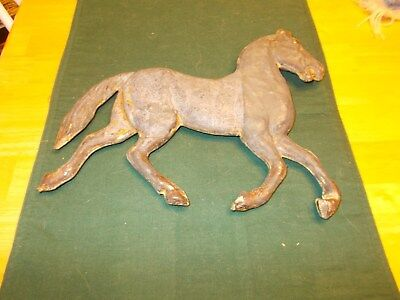 Late 1800S Early 1900S Tin Metal Horse From A Weathervane Both Sides And No Hole