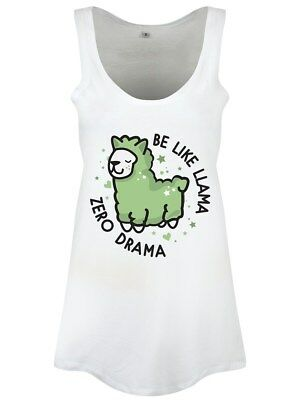 Be Like Llama Zero Drama Women's White Floaty Vest