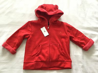 Baby Gap Bear Ears Hoodie Red Size 6-12 Months