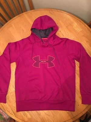 Under Armour Storm Pullover Hoodie Sweatshirt Women's Size Large Good Condition