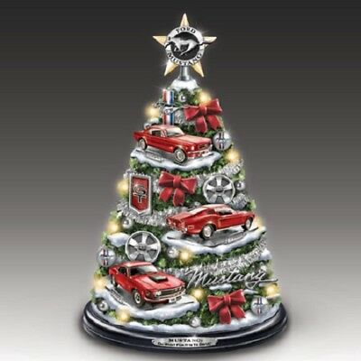 Ford Mustang Car Christmas Tree  Bradford Exchange - Resin Musical with Lights