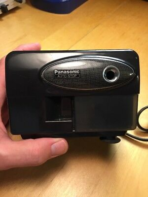 Panasonic Auto Stop Electric Black Pencil Sharpener KP-310 TESTED