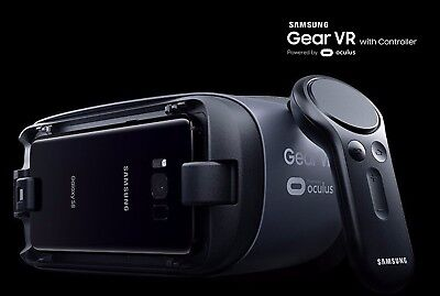 Samsung Gear VR 2017 Headset with Controller S8 S8+ S7 S6 Note 5 Black