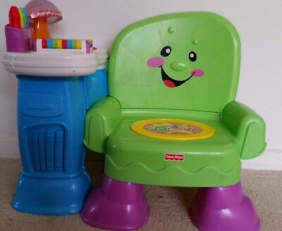 Fisher Price Laugh & Learn Song And Story Learning Musical Chair Green