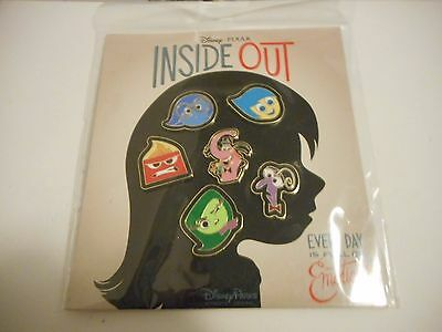 Inside Out Every Day Is Full Of Emotions Lot Of 6 Disney Pins *****NEW*****