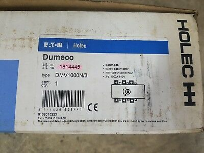 HOLEC Switch-disconnector Dumeco DMV 1000N/3 NEW 1000 amp 3 pole