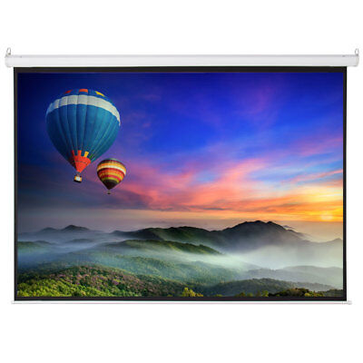 """New Big Sale 100"""" 4:3 Foldable Electric Motorized Projector Screen +Remote"""