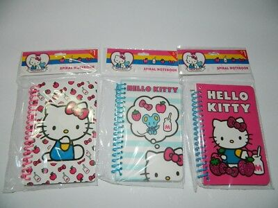 Sanrio HELLO KITTY Small SPIRAL Notebook! NEW PACKs (3)