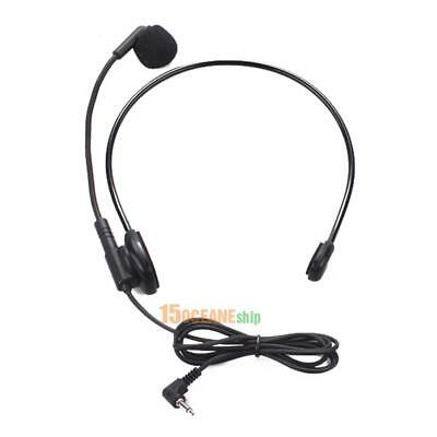 3.5mm Jack Head-mounted Headset Microphone Flexible Wired Boom Amplifier