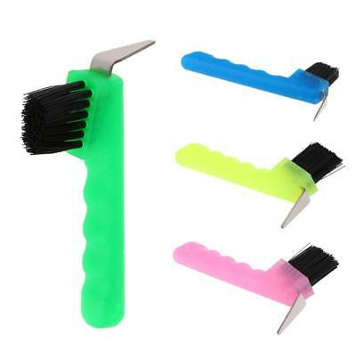 Hoof Pick with Brush Horse Grooming Equestrian Equipment Tool Various Colors