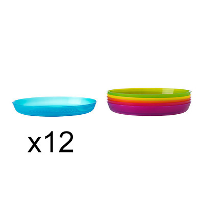 Bulk IKEA Plastic Plates Baby Party Camping Picnic Travel + FREE Cutlery Set