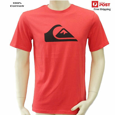 New Mens Authentic Quiksilver T Shirts Tee Shirt Tops Sz Small Med Blue Red Navy